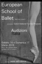 Audizione European School of Ballet Amsterdam