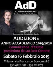 Audizioni AdD Accademia Danza Milano con Luciano Cannito