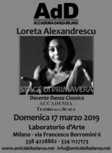Stage danza classica con Loreta Alexandrescu