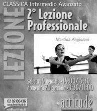 Stage di perfezionamento di repertorio classico con Martina Angioloni