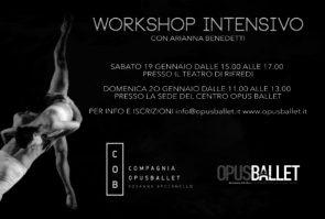 Workshop intensivo con Arianna Benedetti