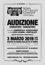 Roma City Ballet Company diretta da Luciano Cannito cerca danzatori e danzatrici. Audizione a Roma.