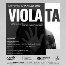 Viola(ta), performance per dire basta alla violenza sulla donna, di Vito Alfarano