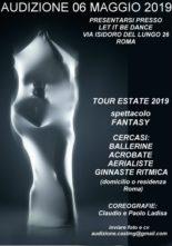 Audizione per Fantasy in tour nell'estate 2019 con coreografie di Claudio e Paolo Ladisa