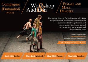 Compagnie IFunamboli: workshop e audizione a Berlino, Madrid, Roma e Londra