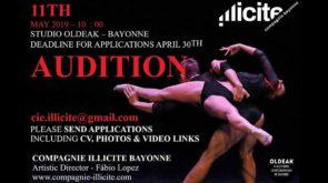 Audizione Compagnie Illicite Bayonne per danzatori e danzatrici (Francia)