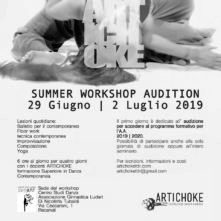 Formazione Superiore in Danza Contemporanea Artichoke. Summer Workshop Audition