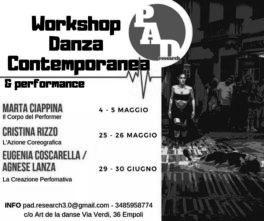 P.A.D. Research. Workshop danza contemporanea e performance