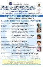 Stage Internazionale di Danza Classica Città di Rapallo 2019