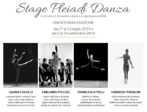 Stage Pleiadi Danza 2019 a Roma