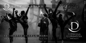 Audizione per danzatori e danzatrici per La Divina Commedia Opera Musical, regia di Andrea Ortis e coreografie di Massimiliano Volpini