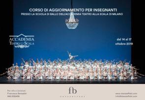 Scuola di ballo dell'Accademia Teatro alla Scala. Corso di aggiornamento insegnanti dal 14 al 17 ottobre 2019