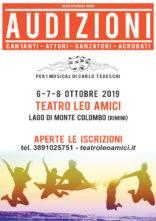 Audizioni per cantanti, attori, danzatori, danzatrici e acrobati per il tour dei musical di Carlo Tedeschi