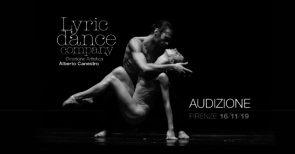 Audizione Lyricdancecompany per danzatori e danzatrici per la stagione 2020-2021