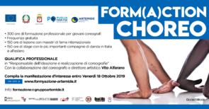 FORM(A)CTION CHOREO. Corso gratuito di formazione professionale per coreografi finanziato dalla Regione Puglia