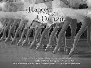 Stage di danza classica per allievi ed insegnanti con i Professori dell'École de Danse de l'Opéra National de Paris dal 27 al 29 dicembre 2019 a Roma