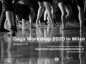 Gaga Workshop 2020 in Milan