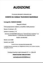 Audizione per danzatori e danzatrici per evento televisivo con coreografie di Fabrizio Mainini