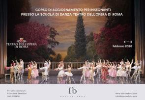Scuola di danza del Teatro dell'Opera di Roma. Corso di aggiornamento insegnanti dal 6 all'8 febbraio 2020