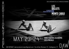 Stage audizione per borse di studio per il Summer Course dell'Académie de Danse Princesse Grace