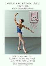 Audizioni a Roma e Torino per l'Accademia di danza BMICA di Monaco di Baviera diretta da Alen Bottaini