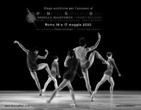 Stage audizione a Roma per l'ammissione al Pôle National Supérieur de Danse Rosella Hightower a Cannes-Mougins per l'anno 2020-2021