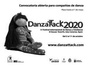 DanzaTTack 2020 Festival di Danza e CineDanza. Open call per compagnie, assoli e film (Isole Canarie - Spagna)