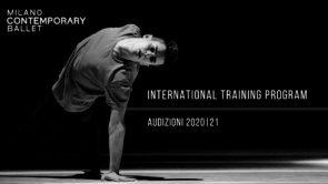 Milano Contemporary Ballet. International training program 2020|21. Audizioni online e in presenza