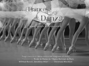 Lo stile francese nella danza 2020. Stage di danza classica con i Professori dell'École de Danse de l'Opéra National de Paris dal 27 al 29 dicembre 2020 a Roma