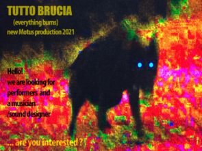 Audizione per Tutto Brucia,nuova produzione di Motus