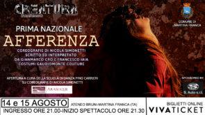 Afferenza di Nicola Simonetti debutta a Martina Franca