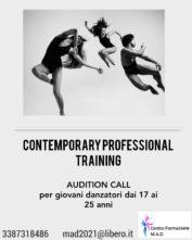 Audizioni Contemporary Professional Training del Centro di Formazione M.A.D.